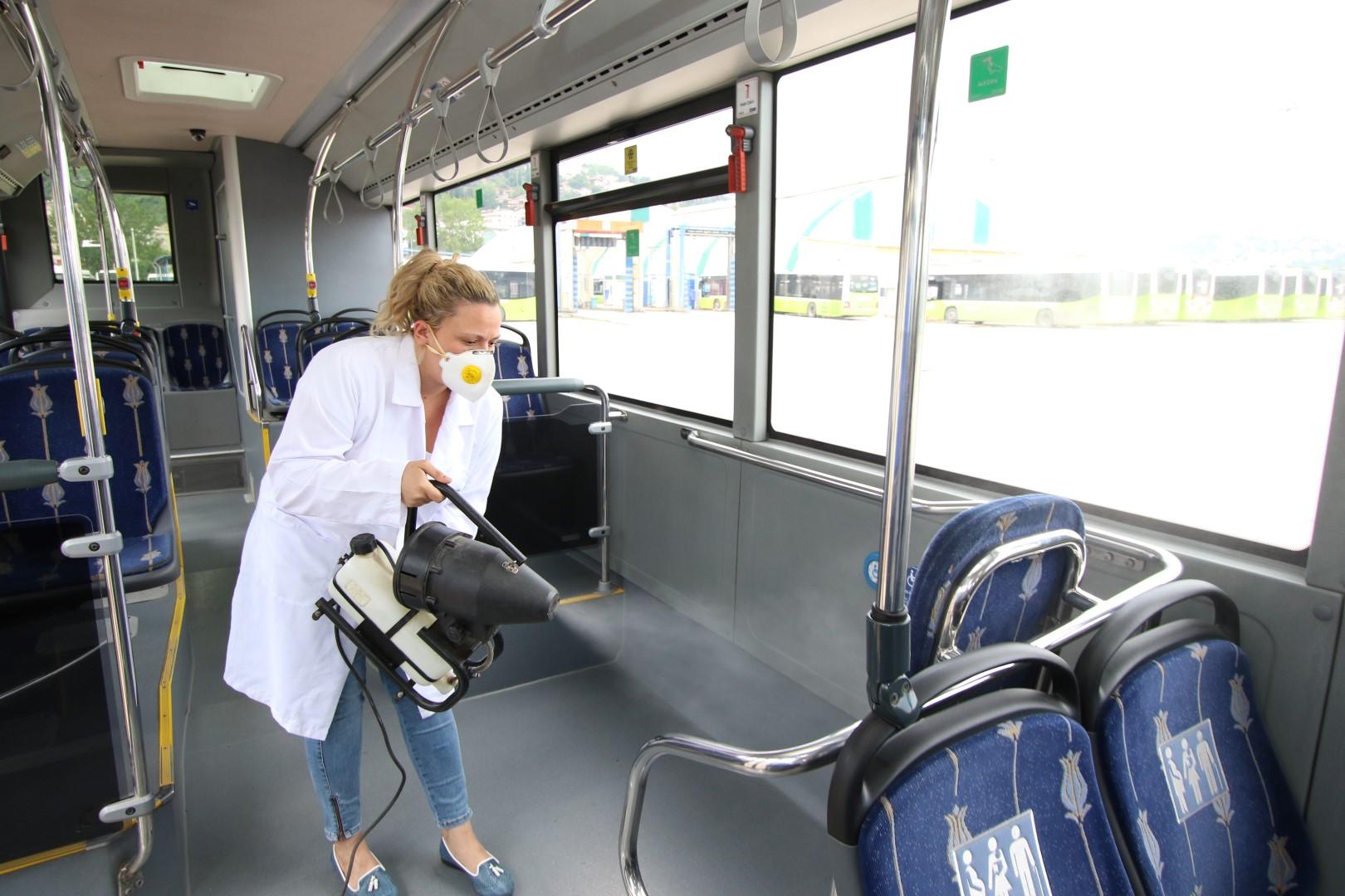 Otobüslere nano teknolojik temizlik