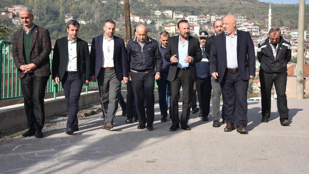 Başkan, Yenidoğan'ı gezdi