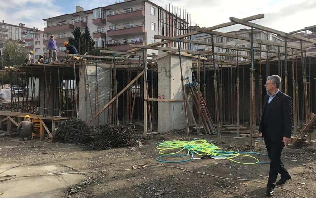 Kapalı pazar inşaatı hız kazandı