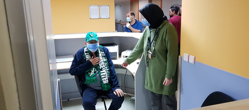 Hürriyet'ten Bardakçı Ali'ye moral ziyareti