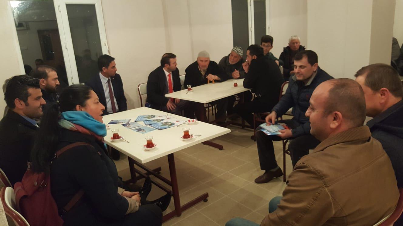 Meclis üyesi adayları köylere misafir oldu