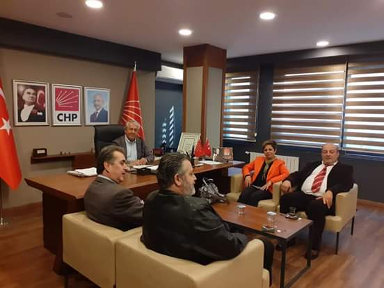 Genç Partililer'den CHP'ye ziyaret