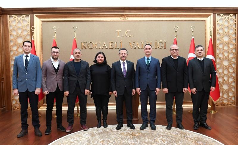 Doğu Marmara Gümrük Müşavirleri Dernek Yönetimi Aksoy'un makamında