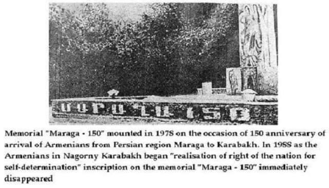 """Marağa – 150"""" anıtı"""