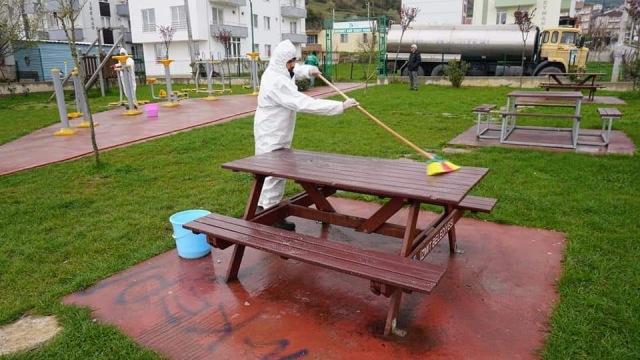 210 park dezenfekte edildi