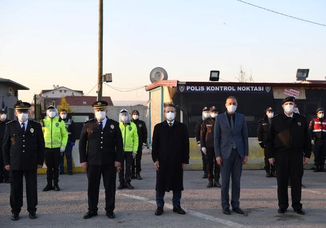 Vali Aksoy'dan emniyet güçlerine ziyaret