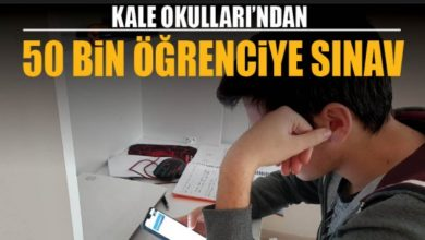 Kale Okulları'ndan 50 bin öğrenciye sınav