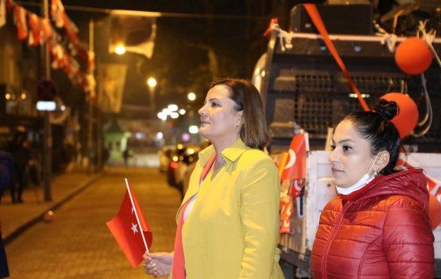 Hürriyet, İstiklal Marşı'nı Karabaş sakinleri ile okudu