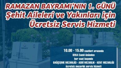 Büyükşehir'den ücretsiz servis