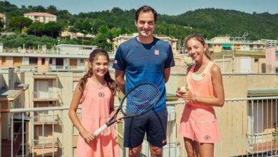 Federer, genç sporcuları ziyaret etti