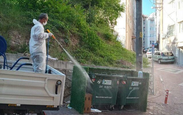 Çöp konteynırlarına anında müdahale