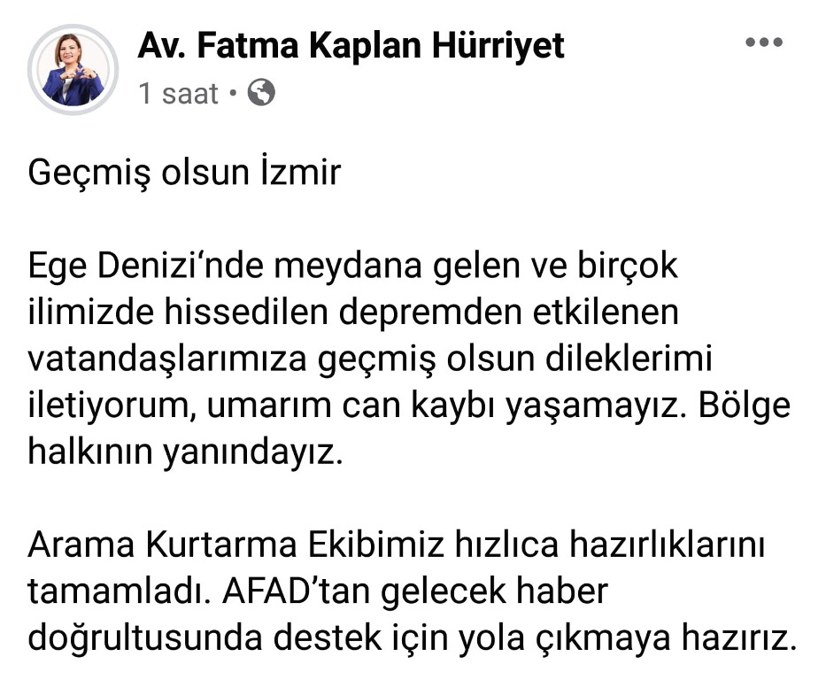 """""""İzmir'e destek için yola çıkmaya hazırız"""""""