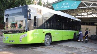Otobüsler kışa hazırlandı