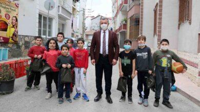 Başkan, çocukları mutlu etti