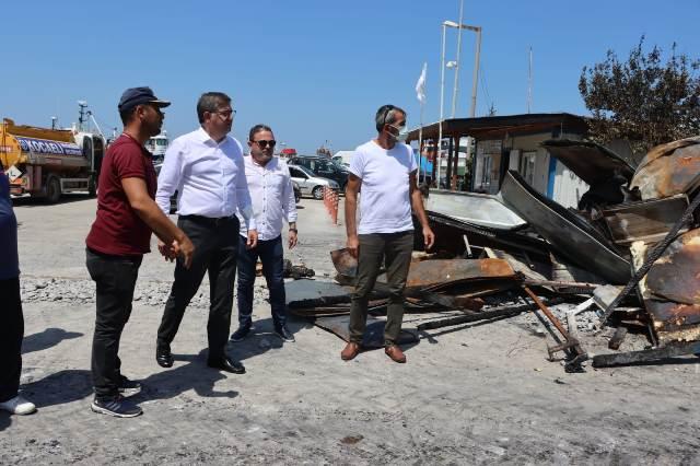 CHP, yangın mağduru balıkçıların yanında